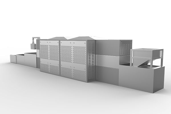 Meat products microwave degreasing equipment